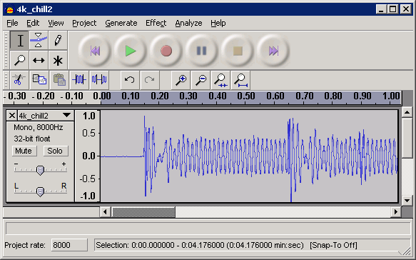 how to make a looping sound in audacity