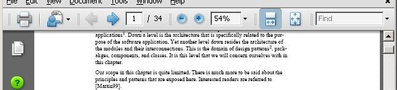 Adobe Reader - Drop Shadow