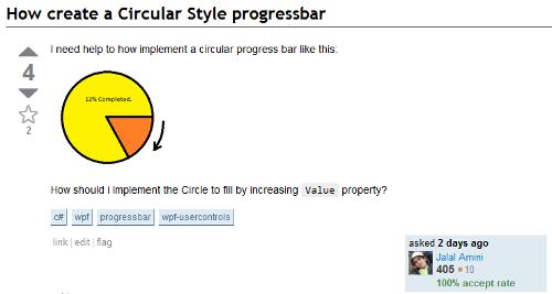 A Circular ProgressBar Style using an Attached ViewModel