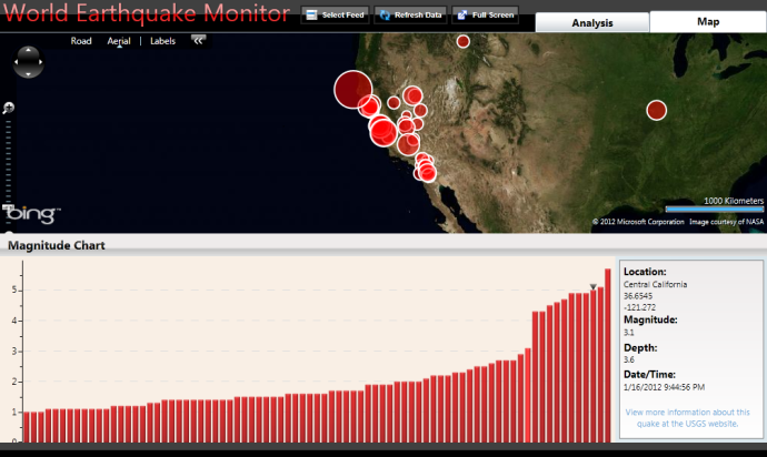 Creating an Earthquake Monitoring Application with Visiblox