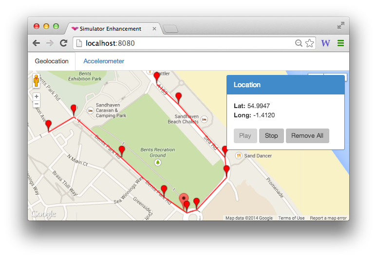 Simulating Accelerometer and Location data for iOS