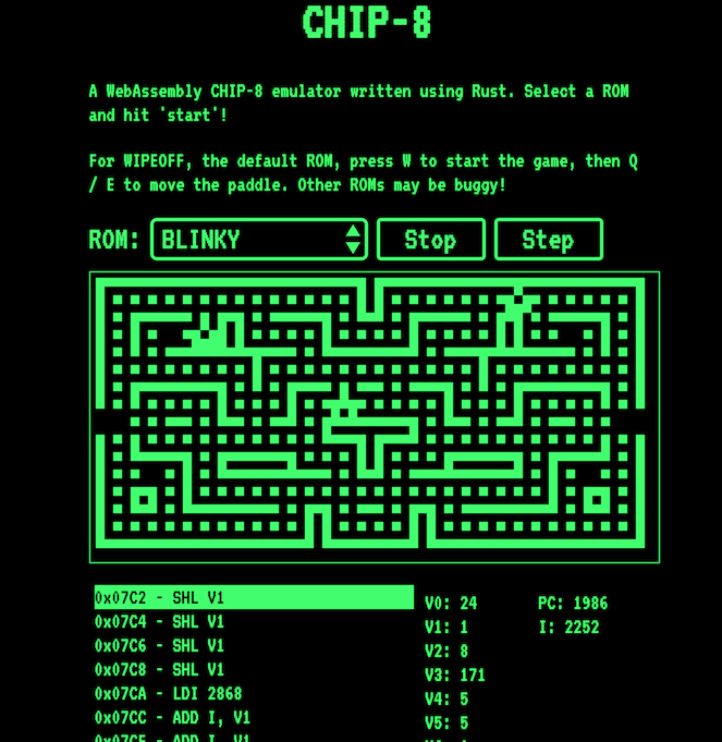 Writing a CHIP-8 emulator with Rust and WebAssembly