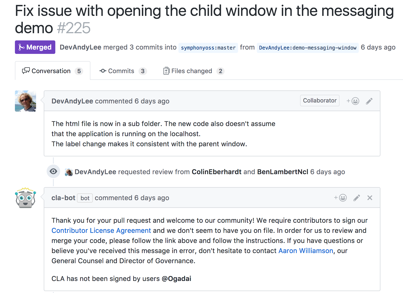 Cla Bot A Github Bot For Automating Contributor Licence Agreements