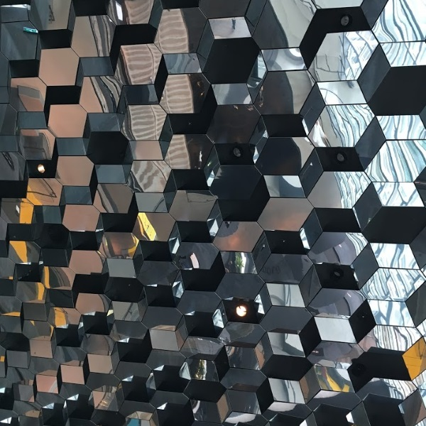 View from inside looking up, Harpa