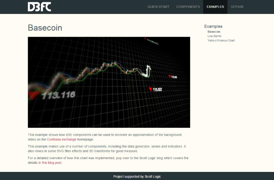 Website example screenshot
