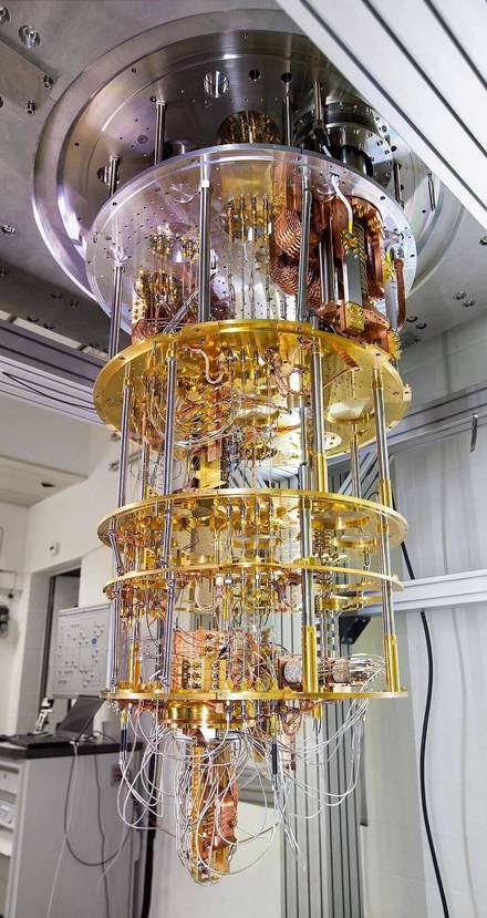 Quantum computer developed by IBM Research in Zurich]