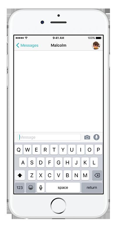 Blank conversational UI