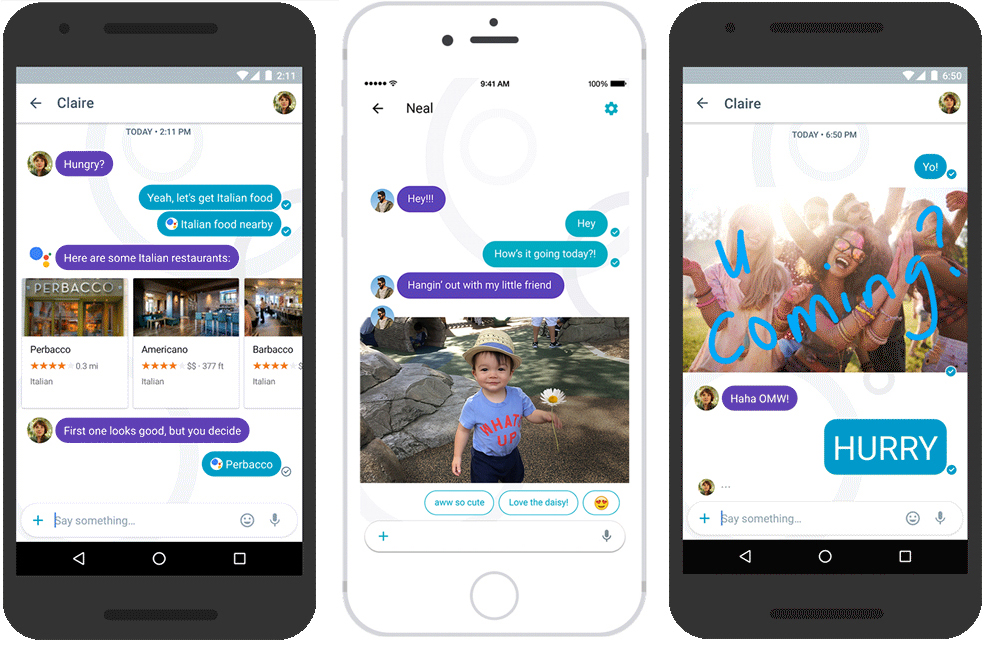 Structured content in Google's Allo