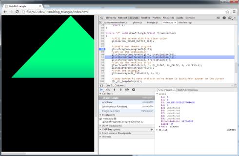 Native code + Emscripten + WebGL  Simmer gently
