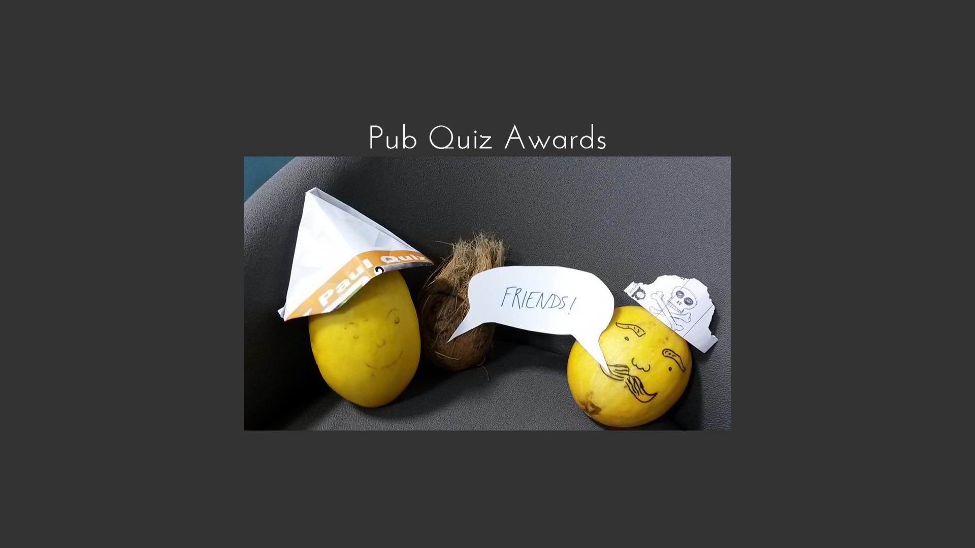 Pub Quiz Awards