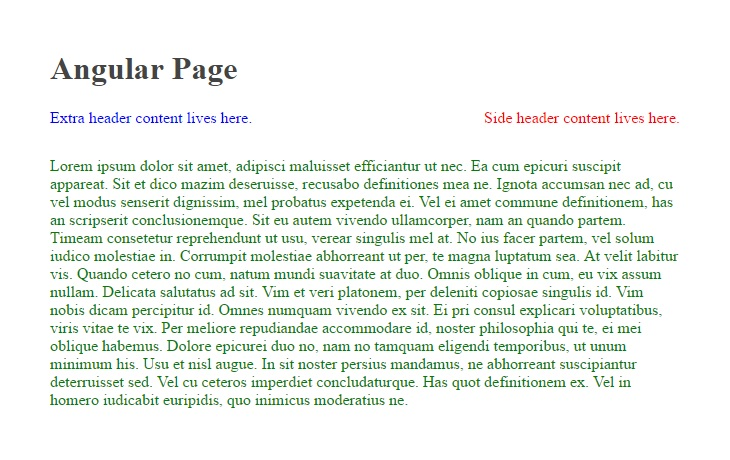 Angular page