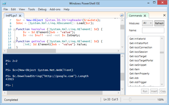 webclient downloadstring powershell and xml