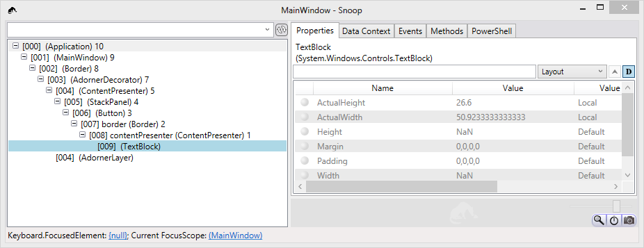 Snooping WPF: Tips and PowerShell tricks