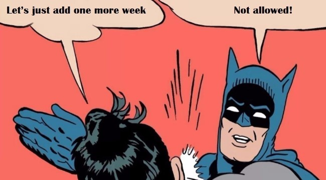 Batman is slapping Robin because he asked for the Sprint to be kept open for another week.