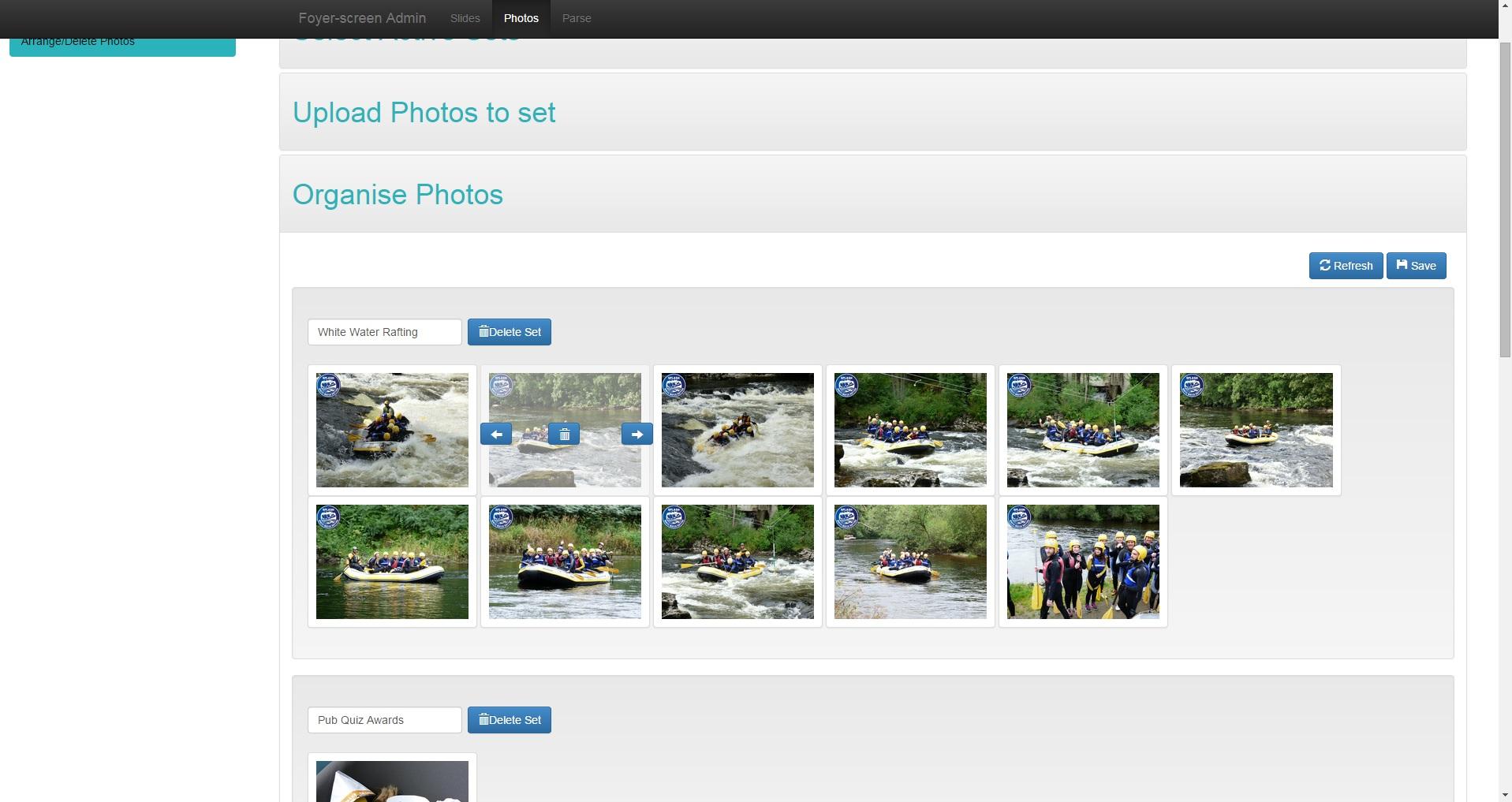 Admin Organise Photos