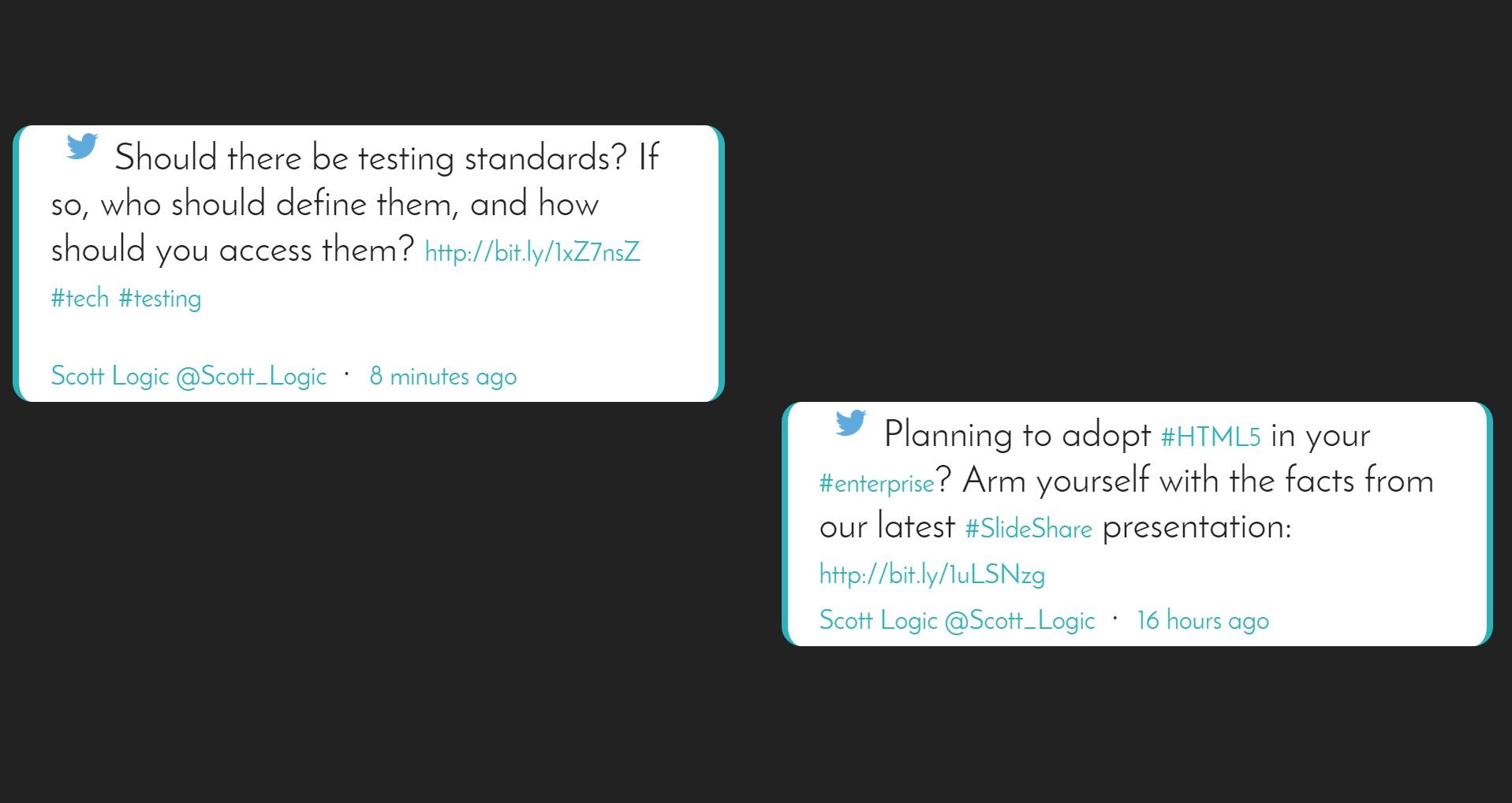 Twitter - Scott Logic