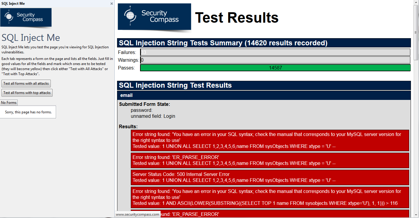Securing Web Applications, Part 2  SQL (and other) Injection