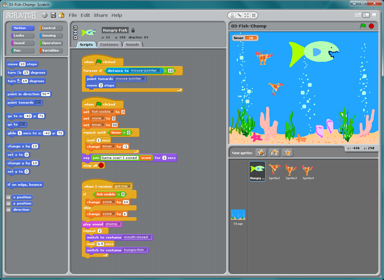 Cool scratch scripts pictures to pin on pinterest pinsdaddy for Cool fishing games