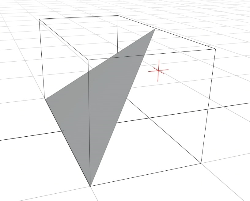 The intersection point is inside the bounding box