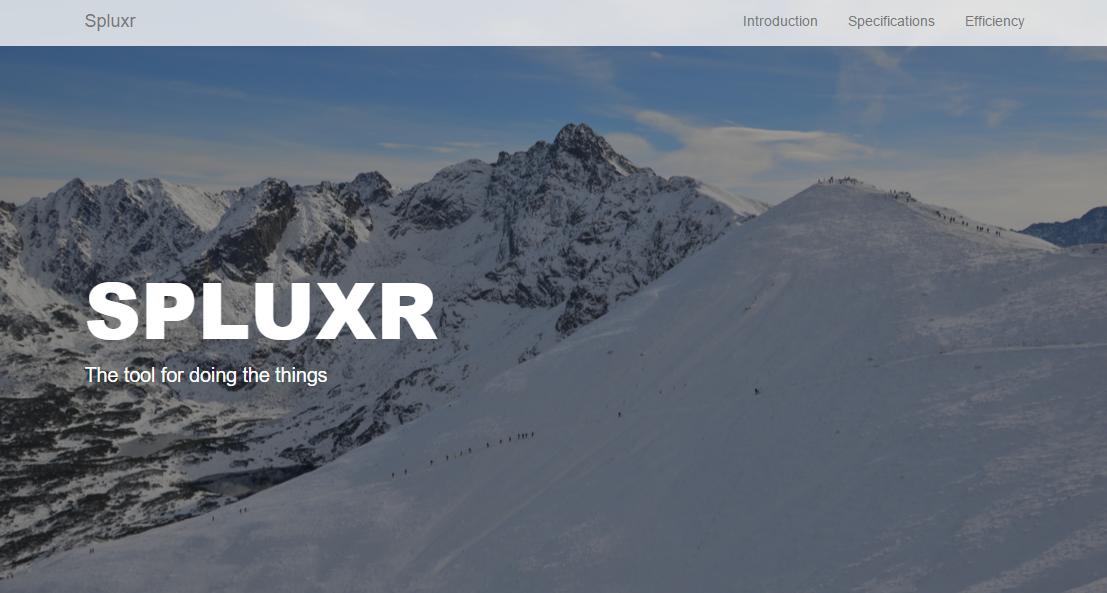 Spluxr front page