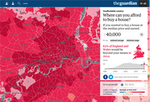 Unaffordable Country: Where can you afford to buy a house?, The Guardian