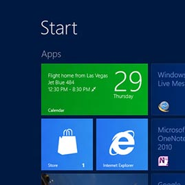 Windows Calendar live tile