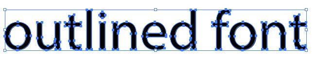 Outlined font in Illustrator